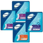 Tena Serenity Heavy Pads and Ultimate Pads and Overnight Pads